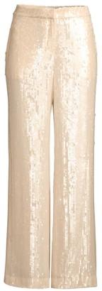 Lafayette 148 New York Dalton Wide-Leg Sequin Pants