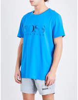 Boss Logo Sun Protection Cotton T-shirt