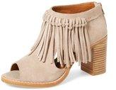 YDN Women Peep Toe Heels Booties Shoes Low Heel Suede Casual Chunky