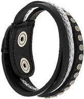 Diesel layered studded bracelet