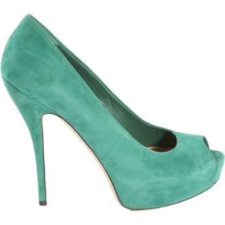 Gucci Green Suede Heels