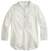J.Crew Girls' bib tunic in tissue oxford cloth