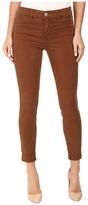 J Brand Anja Clean Cuffed Crop in Burnt Umber