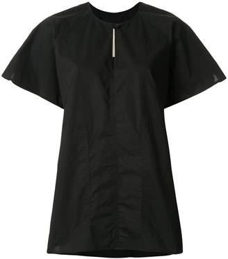 Lee Mathews short sleeve key-hole neck T-shirt