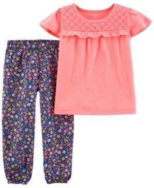 Carter's Toddler Girls 2 Piece Jersey Tee Pull-On Pant Set