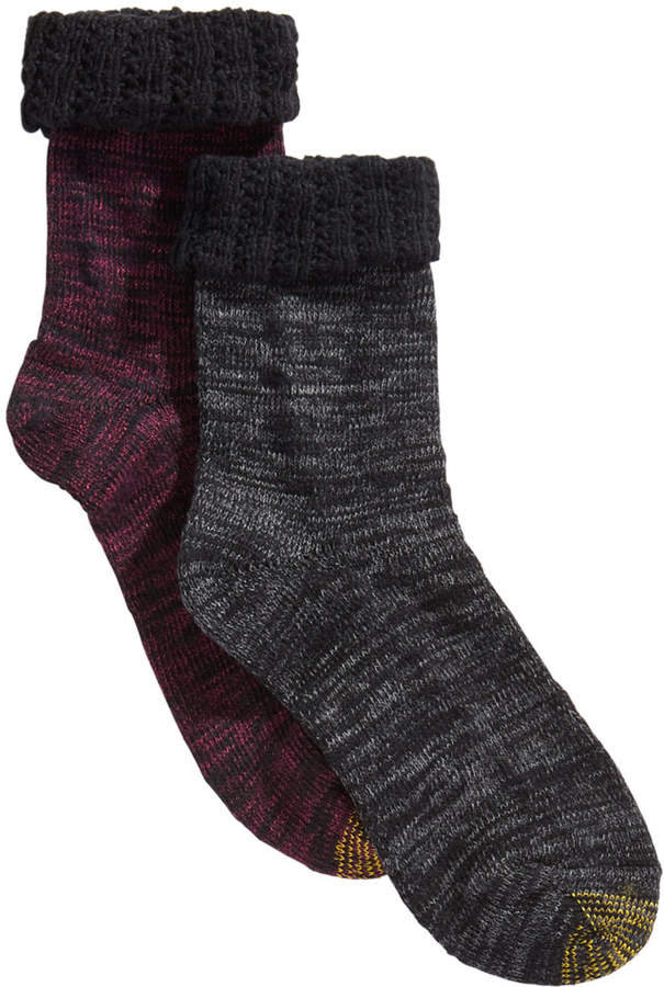 Gold Toe 2-Pk. Antiquity-Cuff Marled Socks