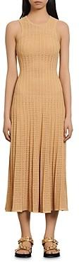 Sandro Aleane Knit Midi Dress