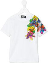 DSQUARED2 floral print T-shirt - kids - Cotton - 10 yrs