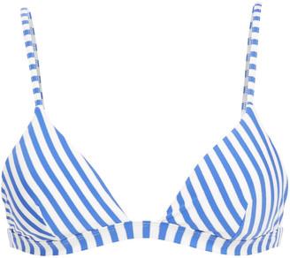 Onia Danni Metallic Striped Triangle Bikini Top