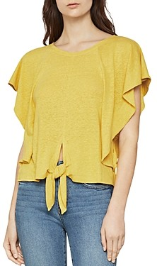 BCBGMAXAZRIA Tie-Front Cropped Top