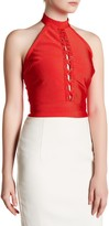 Wow Couture Lace-Up Halter Tank