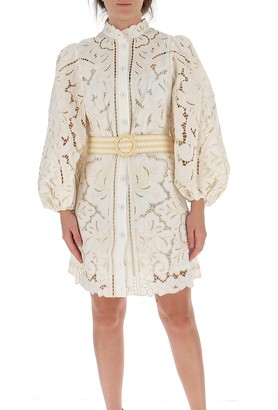 Zimmermann Empire Broderie Short Dress