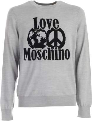 Love Moschino Sweater L/s W/love Logo