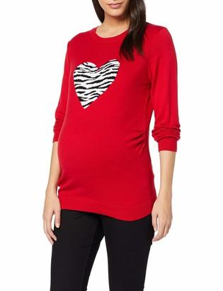 Dorothy Perkins Maternity Women's FINE Gauge Pattern - Zebra Heart Maternity Jumper
