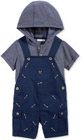 First Impressions 2-Pc. Hoodie & Arrows Overall Set, Baby Boys (0-24 months), Only at Macy's