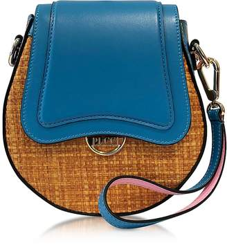Emilio Pucci Leather and Natural Fiber Crossbody Bag