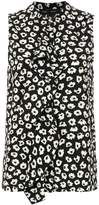 Proenza Schouler Sleeveless Ruffle Button Down blouse