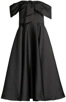 Jay Godfrey Knight Bow-Front Off-The-Shoulder Dress