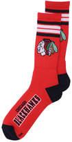 For Bare Feet Chicago Blackhawks 4 Stripe Deuce Crew Socks