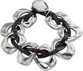 Uno de 50 Passion Geometric Bead Interlocked Leather Bracelet