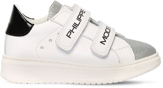 Philippe Model Leather Strap Sneakers