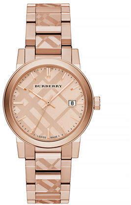 Burberry The City Rose Goldtone Check Watch