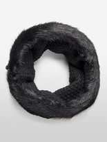 Calvin Klein Lurex Faux Fur Snood Scarf