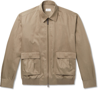 Brioni Cotton And Linen-Blend Blouson Jacket
