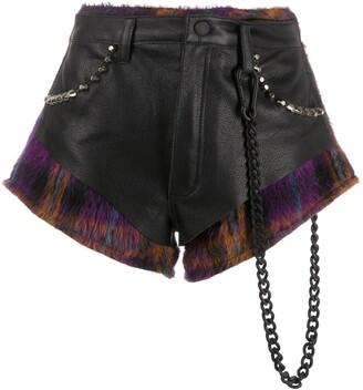 Natasha Zinko Combined Studded Shorts