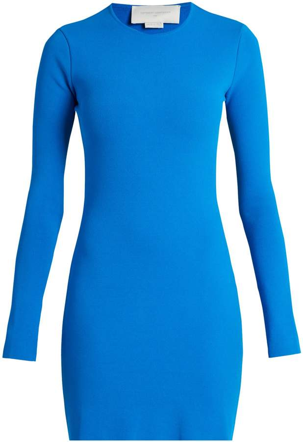 Esteban Cortazar Cut-out back crepe-knit dress