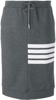 Thom Browne 4-Bar Double Face Sack Skirt