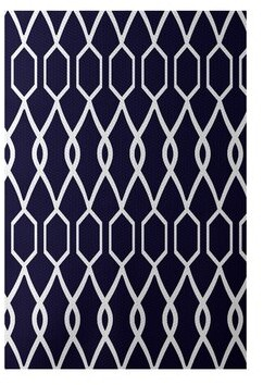 e by design Charleston Print Spring Flatweave Navy Area Rug Rug Size: Rectangle 2' x 3'
