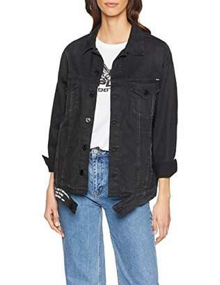 Replay Women's W7514a.000 1/33 412 Denim Jacket, (Black 9), X-Large
