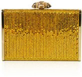Judith Leiber Couture Herringbone Tall Crystal Rectangle Clutch Bag