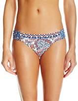 Lucky Brand Women's Hailey Paisley Side Sash Hipster Bikini Bottom