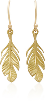 Annette Ferdinandsen 18K Gold Feather Earrings