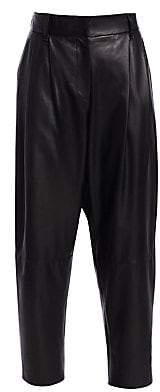 Brunello Cucinelli Women's Pleated Leather Pants