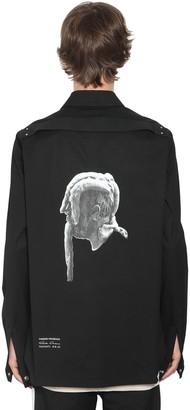 Rick Owens Printed Oversize Cotton Shirt Jacket