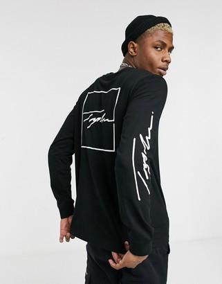 Topman Signature long sleeve t-shirt with back print