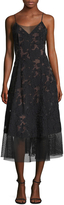 Tracy Reese Women's Mesh Edged Slip Dress