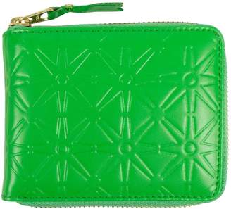 Comme des Garcons Green Leather Wallets