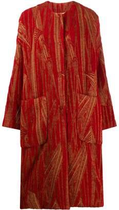 UMA WANG oversized wool blend coat