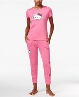 Hello Kitty Back 2 Basics Short Sleeve Top and Jogger Set