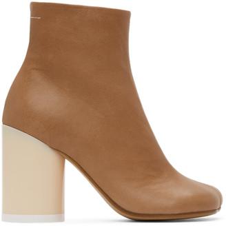 MM6 MAISON MARGIELA Beige Ankle Boots