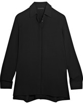 The Row Carlton Crepe Shirt - Black
