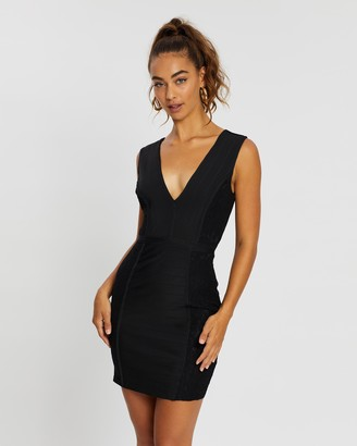Missguided Bandage Lace Panelled Bodycon Dress
