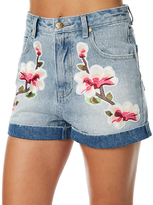 MinkPink China Heights Patch Short Blue