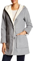 Jessica Simpson Faux Fur Lined Wool Blend Coat