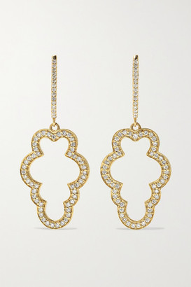 Larkspur & Hawk Emily's Garden Cloud 14-karat Gold Diamond Earrings