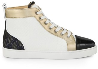 Christian Louboutin Louis Orlato Flat Leather Sneakers